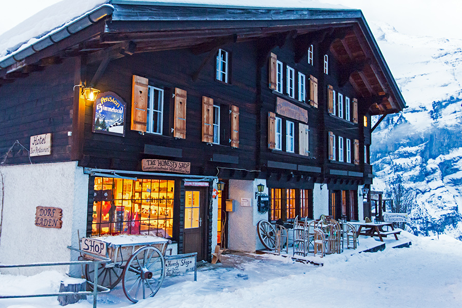Hotel Pension Gimmelwald Winter